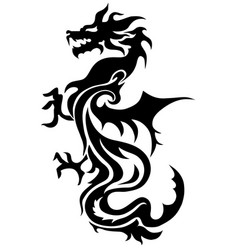 dragon china zodiac symbols tattoo vector image