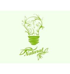 Icon green energy vector