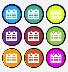 Calendar date or event reminder vector