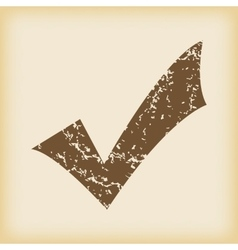 Grungy tick mark icon vector