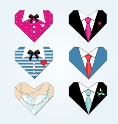 Fashion hearts vector