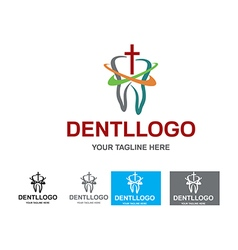 Dental logo design vector