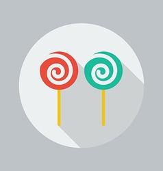 Christmas flat icon lollipop vector