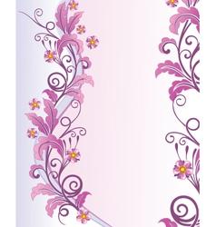 elegant floral vector image