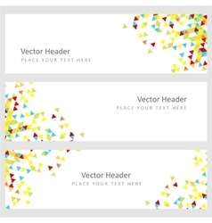 Abstract template horizontal banner vector