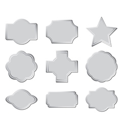 Set of the gray frames vector
