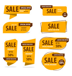 banner label discount design sale offer vector image