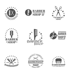 Barber Shop Label Set vector image vector image