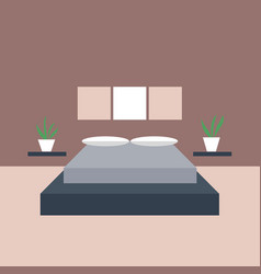 bedroom interior objects for graphic design vector image