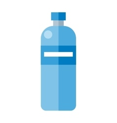 Blue plastic bottle vector