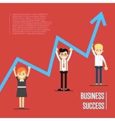 Business success banner with peole vector