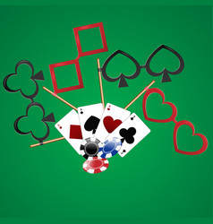 Casino party cards dibs vector
