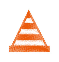 construction cone isolated icon vector image