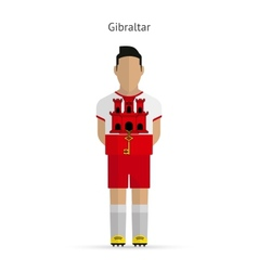 Gibraltar football player soccer uniform vector