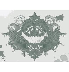 grunge vintage floral vector image vector image