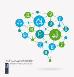 healthcare psychology medicine and medical vector image vector image