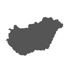 hungary map black icon on white background vector image