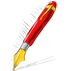 Ink pen cartoon vector image