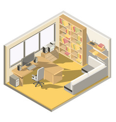 Isometric design of a home office vector