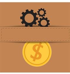 Material exchange to money vector image vector image