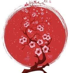 Sakura blossom tree vector