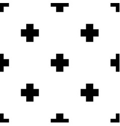 seamless pattern with crosses in scandinavian vector image