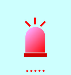 siren set it is color icon vector image vector image