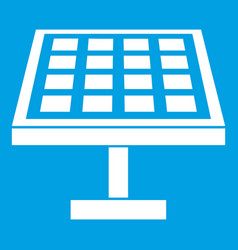 Solar energy panel icon white vector