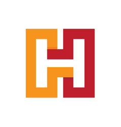 square h business logo vector image