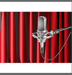 Studio microphone against the background vector