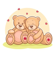 Teddy Bear love vector image