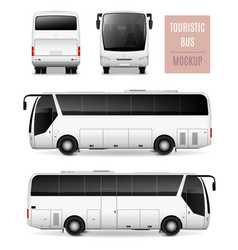 touristic bus realistic advertising template vector image