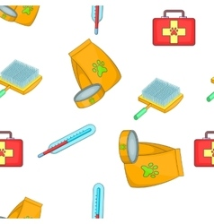 Treatment of animals pattern cartoon style vector