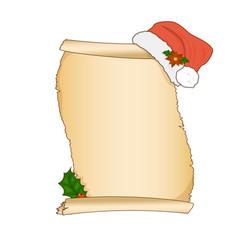 vintage christmas wish list letter design vector image vector image