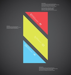 Bar template consists of three color parts on dark vector