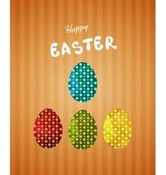 Vintage easter egg design set vector image