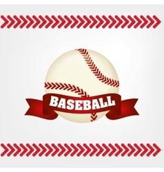 baseball bal ribbon vector image