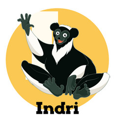 Abc cartoon indri vector