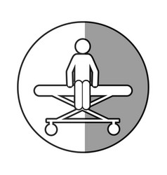 circular frame shading with pictogram patient in vector image