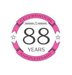 Eighty eight years anniversary celebration logo vector