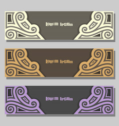 Set of wedding banners vector