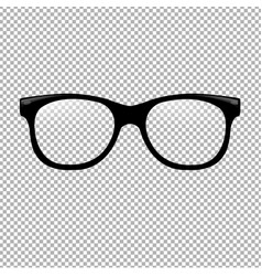 Glasses in transparent background vector