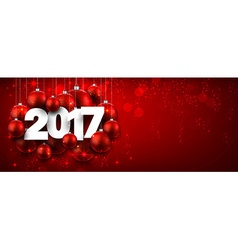 2017 New Year red banner vector image vector image