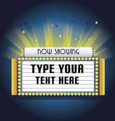 Retro cinema neon sign vector image