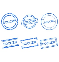 Soccer stamps vector