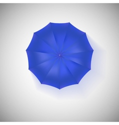 Opened blue umbrella top view closeup vector
