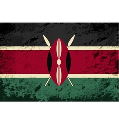 Kenyan flag grunge background vector