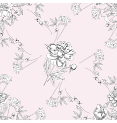 Seamless pattern with bouquet of flowers-07 vector