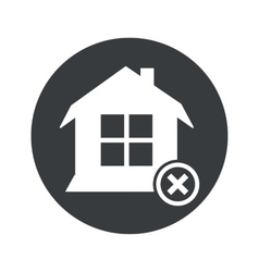 Monochrome round remove house icon vector