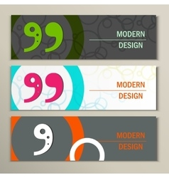 Set of 3 banners with quote text bubble vector